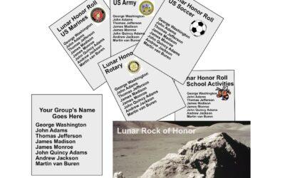 Leesburg Lunar Rock of Honor