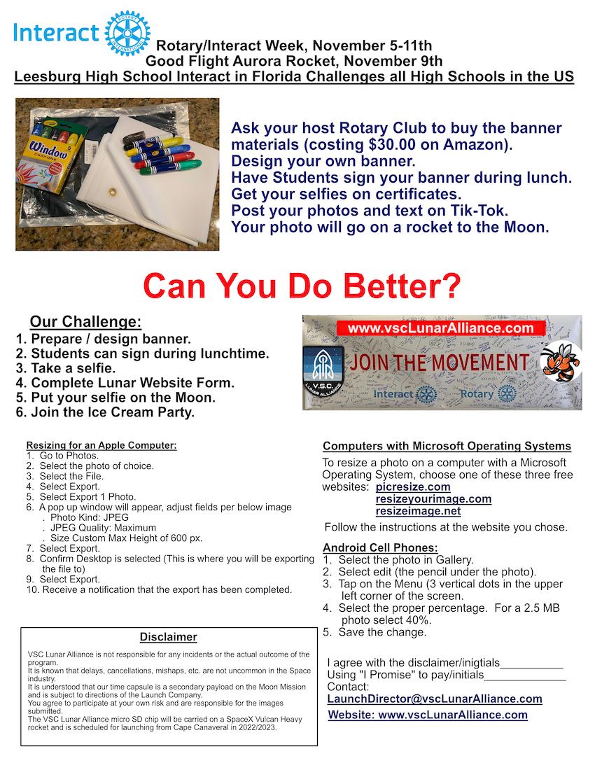 Rotary Interact Week Flyer