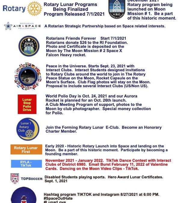 Rotary Presence On The Moon