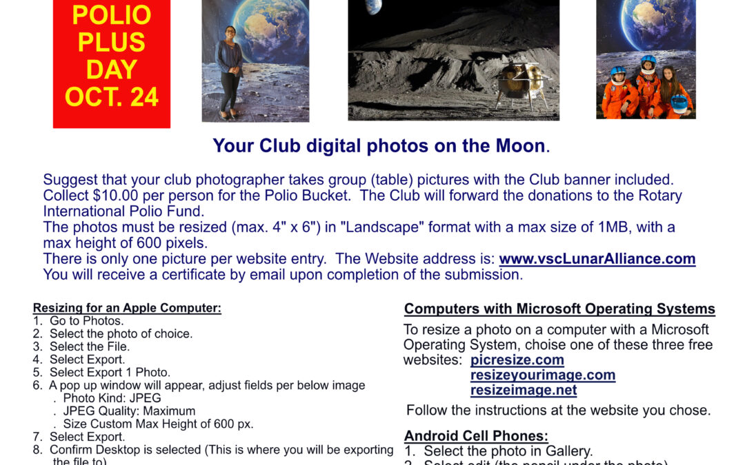 Your Shot at the Moon by Rotary District 6980